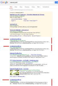 ip internet profit ag auf google